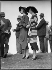 Racegoers at Warwick Farm racecourse (Powerhouse Museum Collection) Tags: ladies blackandwhite woman man men fashion standing vintage outdoors clothing women shoes pumps hats style australia class clothes mode racecourse powerhousemuseum vestidos upperclass chapéus moças 1930sfashion adayattheraces warwickfarm classyladies xmlns:dc=httppurlorgdcelements11 vintagemode fashionableladies dc:identifier=httpwwwpowerhousemuseumcomcollectiondatabaseirn388541 commons:event=commonground2009