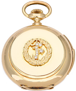 Rare E. Mathey - Tissot & Co. Minute Repeater 18k Yellow Gold 16 size Hunting Case Pocket Watch