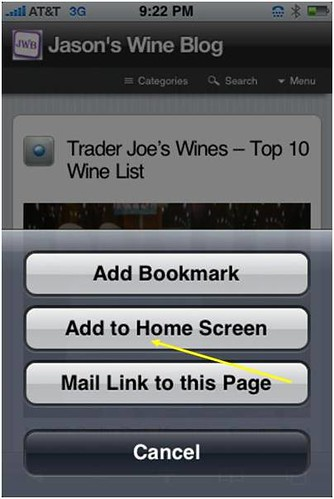 Jason's Wine Blog iPhone App Step #2