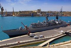 HMS Cumberland (albireo 2006) Tags: hmscumberland cumberland f85 royalnavy navy ship warship grandharbour harbour harbor malta sea mooring valletta wallpaper background mediterranean valletta2018 v18