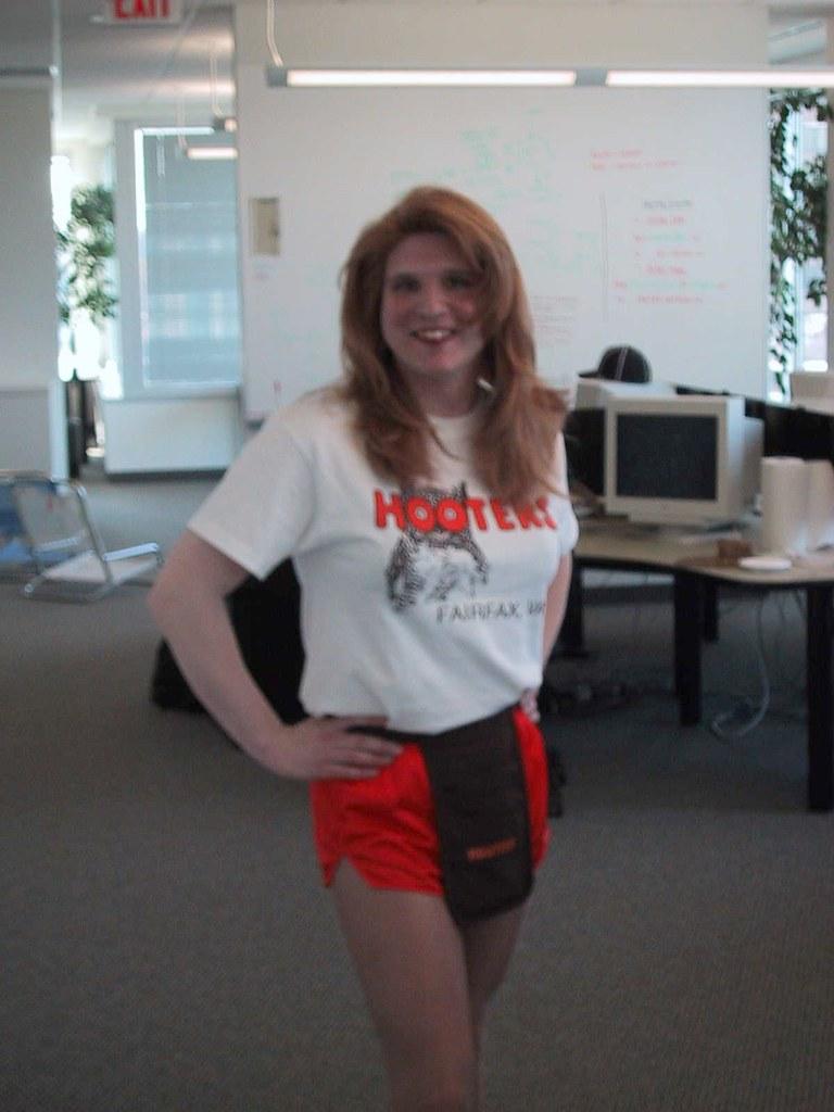 Halloween 2001 Hooters girl costume