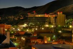 Huntsman Cancer Institute, University of Utah (Red Dandelion) Tags: light mountain color architecture night nikon saltlakecity d200 hdr universityofutah sigma1770 huntsmancancercenter