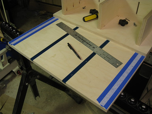 resawing jig with ruler markings for 1