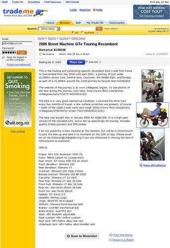 Anyone want to buy a bike?