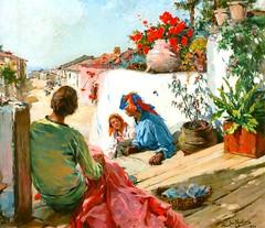 Varanda Florida, 1930 (Figueir dos Vinhos, Portugal) (Biblioteca Municipal de Figueir dos Vinhos) Tags: portugal pintura naturalismo figueirdosvinhos josmalhoa
