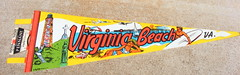 Virginia Beach Pennant (House of Kitsch) Tags: kitsch retro saveourplanet vintagetreasures buyvintage dollymaeshouseofkitsch rescuedfromthelandfill