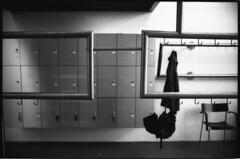 hanged umbrella. (flevia) Tags: bw analog umbrella finland blackwhite helsinki baltic bn nophotoshop biancoenero nikonfa foma analogico fomapan nikkor35mmf2 scannednegatives fomapan400 epsonv700 thebaltics autaut epsonperfectionv700photo flevia imanalog hangedumbrella