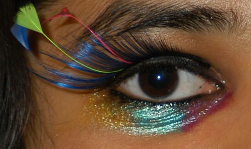 my eyemake up for Liv's party