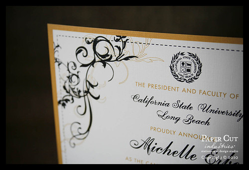 Custom CSULB California State University Long Beach Graduation Announcements