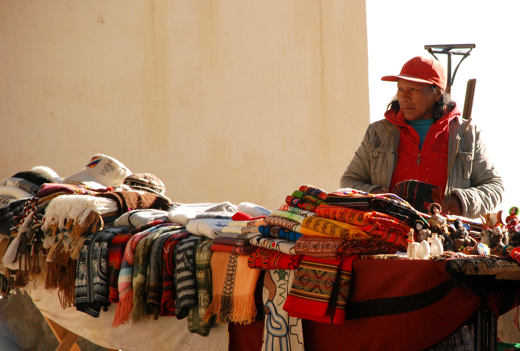 Vendors at Tastil, Argentina