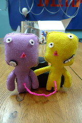 Plush Ivan and Josef! (preshaa) Tags: stitching stitched umbilical