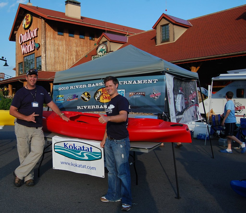 Tim Emberton takes  home the Ascend Kayak for winning the Casual  Angler Division of the  River Bassin Tournament Trail.