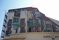 Cinema Cannes (loitz79) Tags: cinema geotagged frankreich cannes wallpainting fra fassade lesuquet wandgemlde provencealpesctedazur gareautobus geo:lat=4355099562 geo:lon=701171815