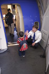 High five for the pilot (cjanebuy) Tags: airplane highfive passenger owen pilot firstflight