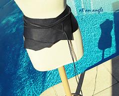 Leather Wrap Belt+Raw Edges+DIY-15-2 (...love Maegan) Tags: pool fashion diy doityourself leatherbelt leatherwrapbelt wrapbeltwithrawedges diyleatherbelt