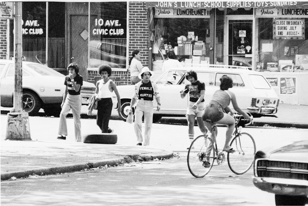 Female Wanted  T-Shirts 10th Ave Boys & Bike Babe Boro Park Brooklyn 1976 70s