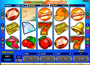 Mega Moolah Summertime slot game online review