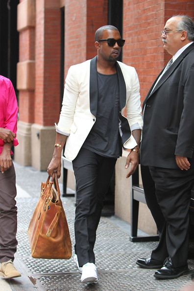 060ec069a33 Kanye West with a vintage Hermés Haut a Courroies (via Birkin Watcher)