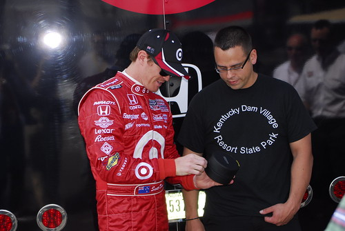 Scott Dixon & a deserving fan