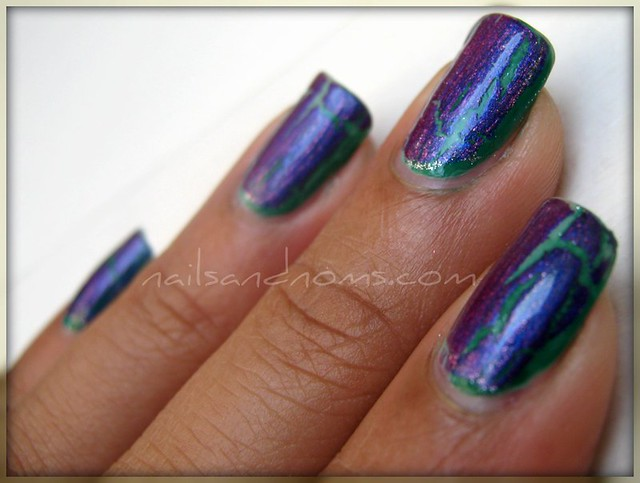 NOTD - Crackle & Green Gradient