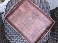 Iron Craft Challenge #22 - Stained and Stamped Tray