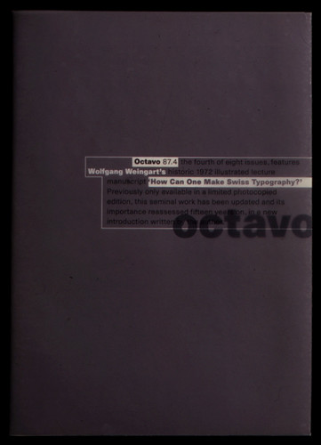 Octavo Cover for fourth issue (1987).