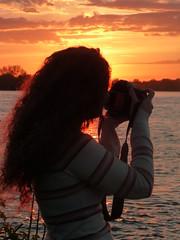 SUNSET WITH ANNE-MARIE (picolojojo) Tags: sunset cloud color clouds daughter annemarie nuage nuages fille couleur coucherdesoleil supershot concordians mygearandme mygearandmepremium
