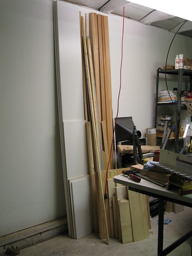 wood boards in my garage