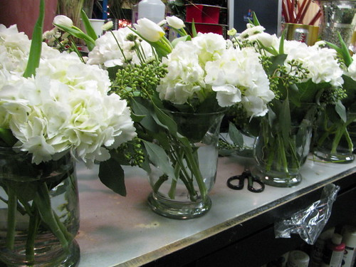 White table centerpieces