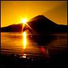 Flare (TheJbot) Tags: morning orange mountain lake japan sunrise fuji jbot motosu thejbot 2009challenge 2009challenge249