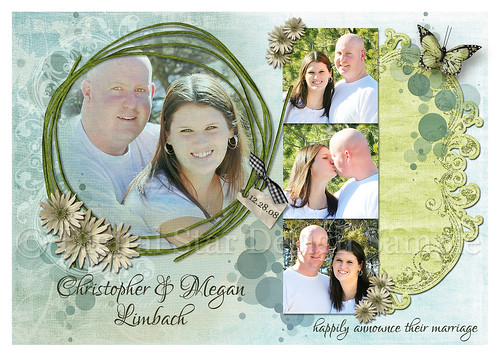 Wedding Announcement Sample, 7x5, full-size