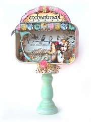 *eNCHaNTMeNt* FaiRy MeRMaiD aLTeReD aRt PaPeR DoLL TiN CoLLaGe (sPaRK*YouR*iMaGiNaTioN) Tags: pink flowers original sea roses art birds collage altered vintage paper tin doll folk assemblage mixedmedia ephemera fairy fantasy mermaid whimsical shabby effa zne