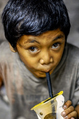 Zagu Kid (frborj) Tags: poverty street portrait 50mm kid nikon philippines shake hdr pampanga unpopular maingate angelescity d40 clarkfield zagu frborj