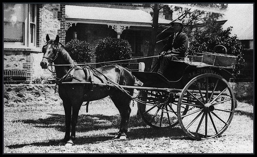 Horse drawn baker's cart Victor Harbor 1 by State Library of South Australia, on Flickr