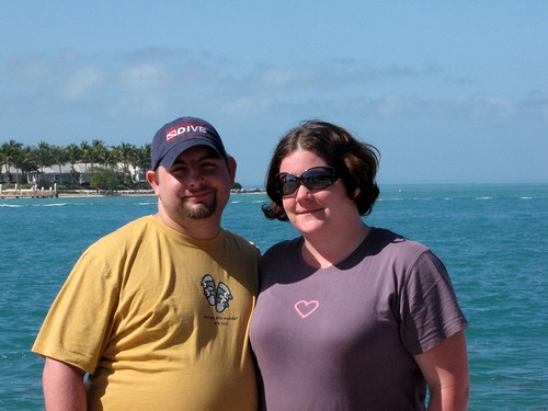 Bill and I on the boardwalk at Mallory Square.