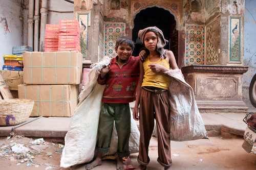 Two streetchildren who wanted to get their photo taken