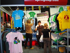 Springleap International Fashion Sale store Feb 2009 t-shirts flying off the shelves