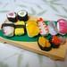 Dollhouse Miniature - 10 pieces Sushi Set