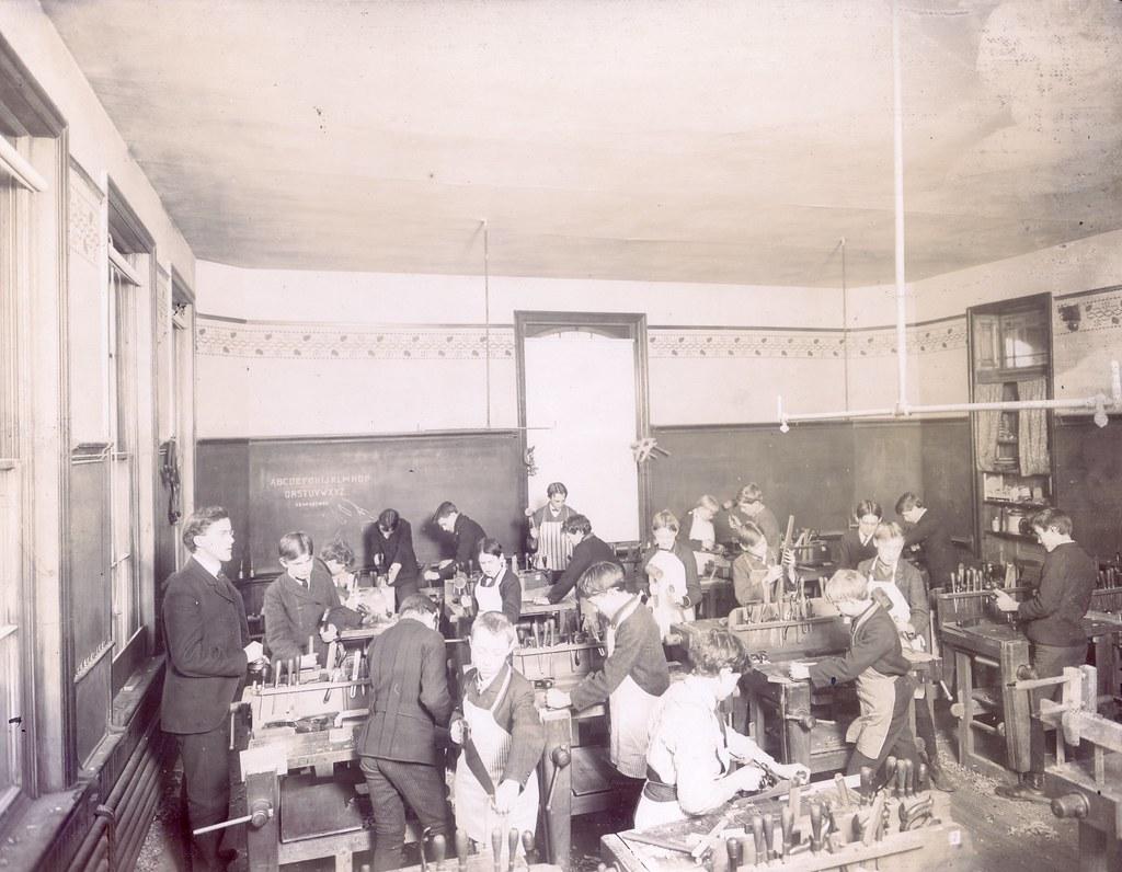 Woodworking Class, St. Louis Public Schools Exhibit, 1904