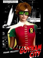"BATMAN : Christina Hendricks as Robin in Frank Miller's (non-existent) ""Gotham City"" (DarkJediKnight) Tags: robin batman dccomics superheroes sincity madmen frankmiller gothamcity christinahendricks carriekelley"