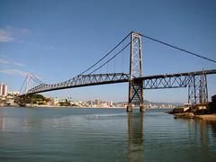 Ponte Herclio Luz (Rodrigo_Soldon) Tags: ocean santa city bridge floripa brazil urban luz sc arquitetura brasil architecture de landscape geotagged puente lands