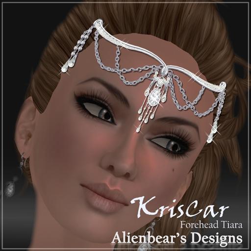 KrisCar forehead tiara white