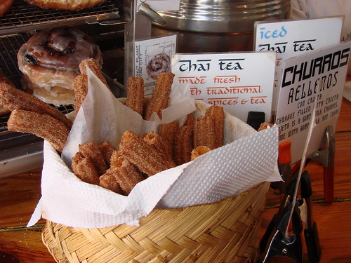 Basket of Churros at the Doughnut Plant