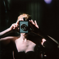 holga - sin with camera