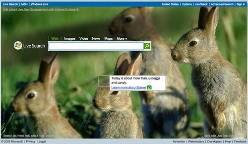 Live.com Easter Logo