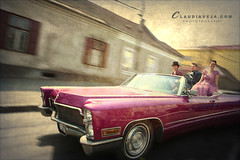 Pink Cadillac (claudiaveja) Tags: show car fun photography star stock images concept transylvania cluj epoca royaltyfree pinkcadillac masina rightsmanaged claudiaveja vintagepink vedeta rightmanaged