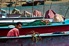fisherman (Majeedshots) Tags: sea water boat fisherman iran  barge boshehr        asaloyeh