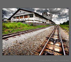 never end (hengcm) Tags: road old sky building architecture canon factory wide rail malaysia 5d jb 1740mm hdr johor goldcoin platinumphoto