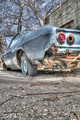 Flat Tires (Scott.Webb) Tags: urban ontario london abandoned car automobile downtown photowalk dundas corvair hdrphotography urbanhdr lopw