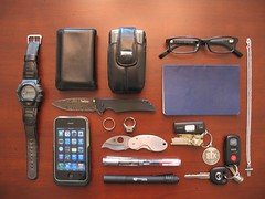 wood moleskine apple leather metal pen silver notebook keys glasses necklace phone blackberry cross wallet steel watch knife ring plastic piston fountainpen flashlight weddingring lcd mazda damascus platinum sandisk flashmemory lamy iphone spyderco mazdaspeed kershaw streamlight classring damascussteel theitemswecarry iphone3gs